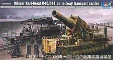 Trumpeter 1/35 Morser Karl-Gerat 040/041 on Railway Transport Carrier 00209