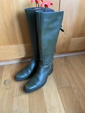Ladies  Elizabeth Stuart Paris France green riding boots UK 5 EU 38