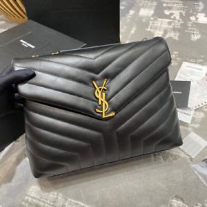Yves Saint Laurent Loulou Medium in Matelassé Bag in Black Crossbody