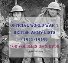 British World War 1 Army Lists on DVDs - WW1 Research Military Medal History 246