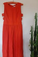 Anthropologie Silk Maxi Dress,Ten over six, flame red, size Small
