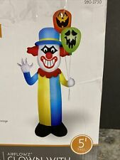 Halloween Airblown Inflatable 5' Scary Clown JOL GHOST Balloon CARNIVAL