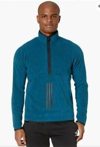 Adidas Men's 3 Stripe Fleece Pullover Sweatshirt Size 2XL NEW $85 Green