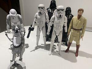 "Star Wars 12"" Figures, Hoth Speeder, Scout, Storm Troopers, Darth Vader, Obi-Wan"