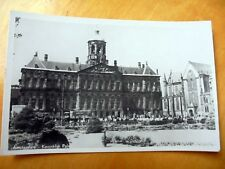 OLD REAL PHOTO-PC: AMSTERDAM~ROYAL PALACE~DAM SQUARE~1950's~ANIMATED