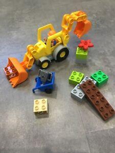 Lego Duplo 10811 Backhoe Loader 100% complete without box