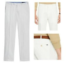 $125 Ralph Lauren Polo Men's White Linen Blend Classic Fit Chino Pants 36 x 34