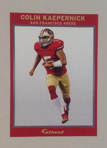 "Colin Kaepernick FATHEAD Small Ad Panel Poster 6"" x 4"" NFL Wall Graphics 49ERS"