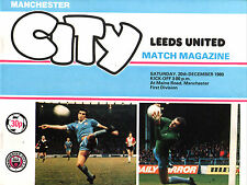 1980/81 Manchester City v Leeds United, Division 1, PERFECT CONDITION