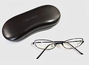 Vera Wang (purple) 51-16-133 V34 Titanium Thin Cat Rx Eyeglasses & Hard Case