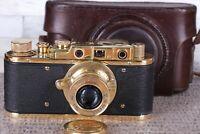 Leica Kriegsmarine Camera lens Leitz Elmar Luxury Vintage ( Zorki copi )