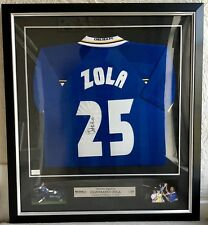 adb3b6e84 GIANFRANCO ZOLA  ICONS.COM PREMIUM FRAMED SIGNED FOOTBALL SHIRT (CHELSEA)