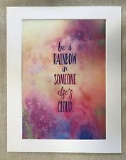 "Rainbow Quote A4 Silk Screen Art Print With 11x14"" Mount"