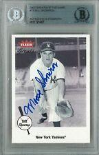 Bill Moose Skowron 2002 Fleer Great of The Game #73 Yankees Signed Auto Bgs