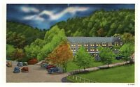 Mountain View Hotel By Moonlight Gatlinburg Tennessee Vintage Linen Post Card