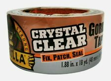 "Gorilla Tape CRYSTAL CLEAR 1.88"" x 18 yd. Fix Patch Seal Transparent 6060002 NEW"