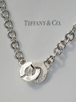Tiffany & Co 1837 Sterling Silver Circle Clasp Toggle Necklace