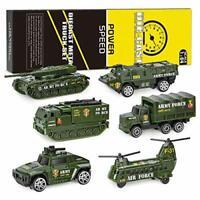 XDDIAS Military Vehicles, 6Pcs Army Car Toy Set Alloy Vehicle Model Toys, Mini