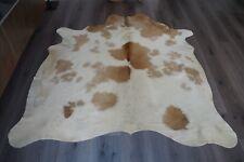 Kuhfell Rinderfell Stierfell Teppich Cowhide 195 x 184 Weiß-Braun | NEU