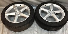 "Pair of OEM Saturn Sky Silver Wheels / Rims 18x8"" w/ Toyo Tires 245/45 PS008A"