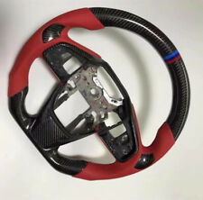 1x Steering Wheel Real Carbon Fiber2016 2017-2019 CIVIC TYPE-R FK8 New Black Red