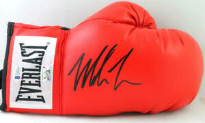 Mike Tyson Autographed Red Everlast Boxing Glove- Beckett Auth *Right