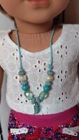 Turquoise Beaded Necklace Sized For American Girl Doll, KNC & Similar Dolls # 7
