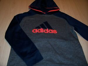 ADIDAS LONG SLEEVE BLUE HOODIE BOYS 14-16 LARGE EXCELLENT CONDITION