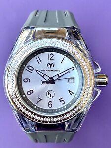 Technomarine Cruise Eva Longoria Women's 34mm Crystals Silicone Watch TM-416012