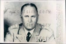 1962 US Army General George Decker Press Photo