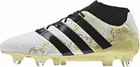 adidas Mens Football Boots Ace 16.1 Primeknit SG Soft Ground White Soccer Shoes
