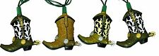 Cowboy Boots String Light Set Indoor Outdoor Party Set 10 Piece Western Decor