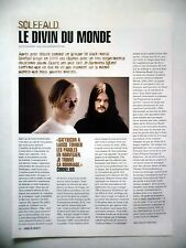 COUPURE DE PRESSE-CLIPPING :  SOLEFALD  04/2003 Cornelius,In Harmonia Mundi