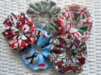 CHRISTMAS HAIR SCRUNCHIES SCRUNCHY TIE BAND UNICORN XMAS STOCKING FILLER TIES