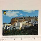 Postcard Spain Dénia Castillo de Denia Castle Residential Houses Vintage
