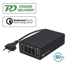Alimentatore carica ricarica 4smarts 60W Voltplug 4x USB+Type C PD QC 3.0 MA59