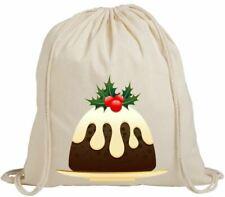 Christmas Pudding Gift Eco-Friendly Drawstring Rucksack Bag