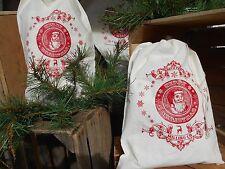 Santa bag, Santa sack, feed sack, feed bag, Christmas bag, cotton bag, gift bags