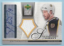 JOE THORNTON 2003/04 UPPER DECK GAME JERSEY SIGNATURE AUTOGRAPH AUTO SP