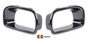 MINI NEW GENUINE F55 F56 F57 S COVER AIR DUCT BRAKE GLOSS BLACK PAIR LEFT RIGHT