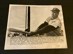 1952  TED WILLIAMS ORIGINAL PRESS PHOTO 20 YEARS WITH THE RED SOX