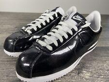 Nike Cortez Basic Premium QS Shoes Black Silver Mens 819721-001 Size 10 Raiders