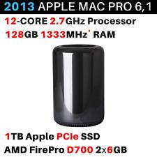 2013 Apple Mac Pro 2.7GHz 12-core / 128GB / 1TB / AMD FirePro D700 6GB - BTO/CTO