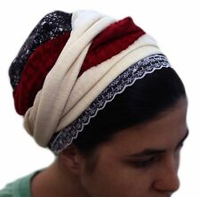 Sinar Tichel Scarves Head Wrap Hair Covering Headcovering Bandana Chemo Red