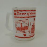 Vintage Souvenir of Canada Coffee Mug by Fire King Made in USA