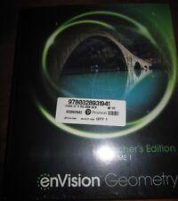 NEW Pearson enVision Geometry Teacher's Edition Volume 1 & 2 9/10