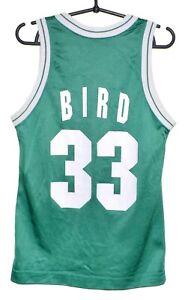 NBA BOSTON CELTICS BASKETBALL SHIRT JERSEY #33 BIRD CHAMPION SIZE XL BOYS