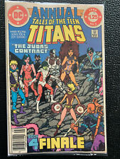 TALES OF THE TEEN TITANS ANNUAL #3 (April 1984 DC) JUDAS CONTRACT FINALE!
