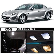 10x White Interior LED Lights Package Kit for 2004-2011 Mazda RX-8