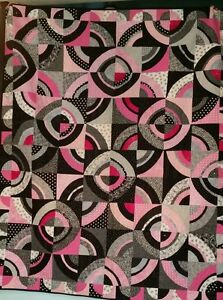 Pink Curves Quilt Wall Art